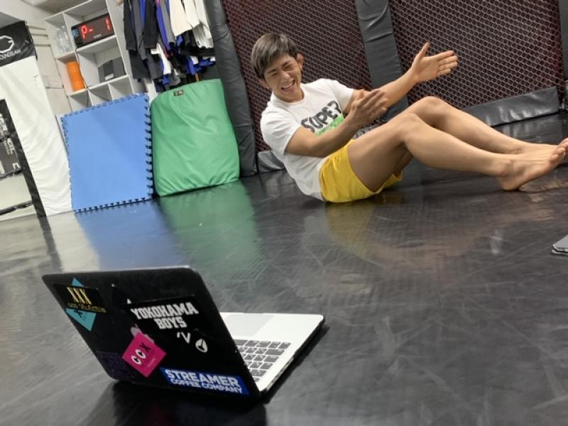 横浜の総合格闘技&キックボクシング&柔術 リバーサルジム「グランドスラムオンラインレッスン」 腹筋バキバキお腹引き締めFIT画像1